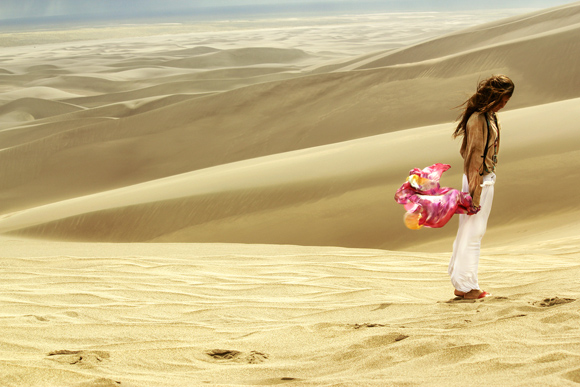 southern sand dunes and scarf