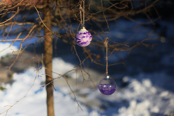 DIY glass ornaments