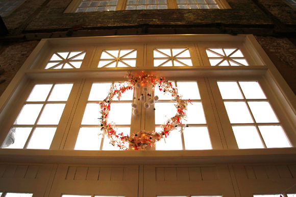 wreath in the lobby