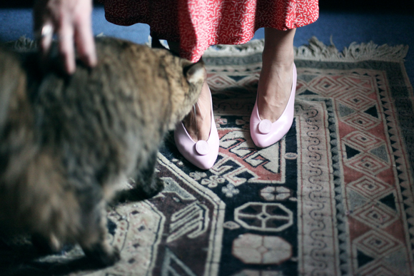 Free People CJ shoes and cat