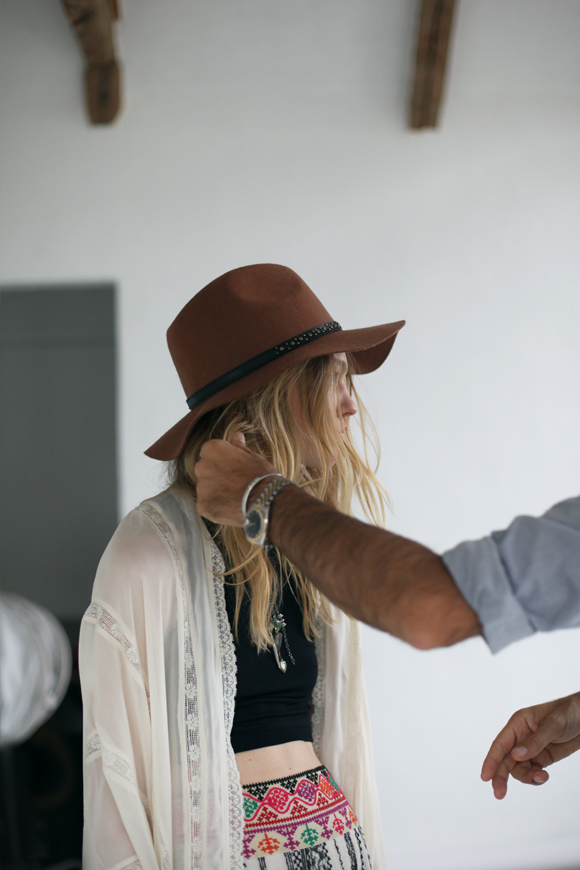 Free People January 2014 catalog - behind the scenes