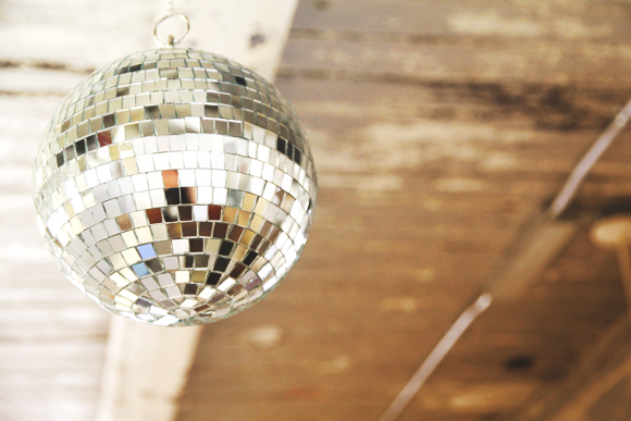 disco ball in office