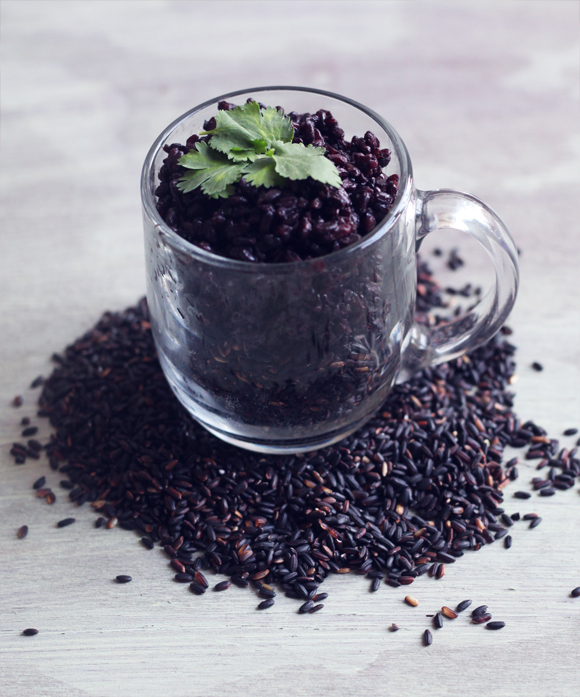Coconut black rice recipe