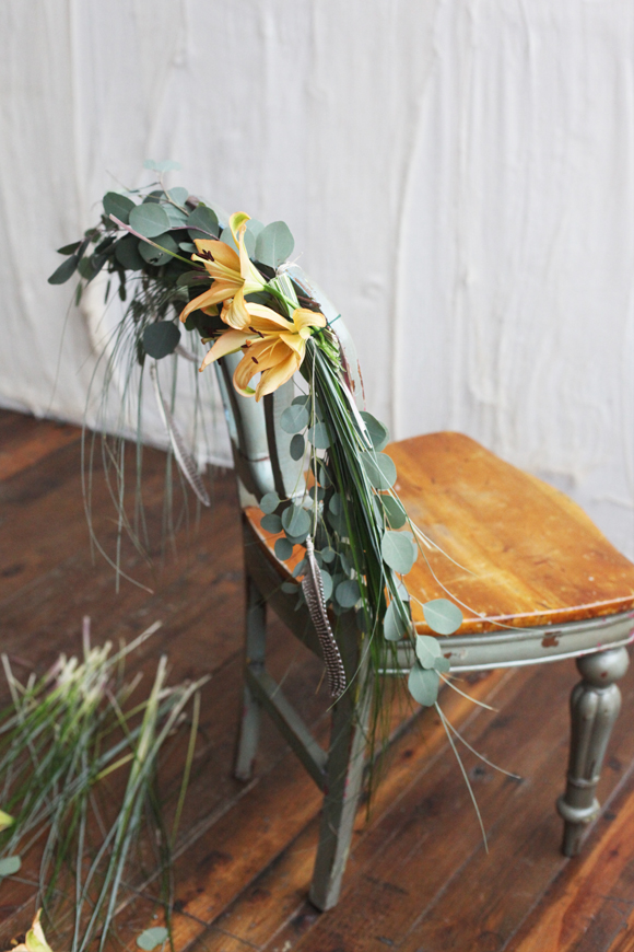 DIY wedding chair garland