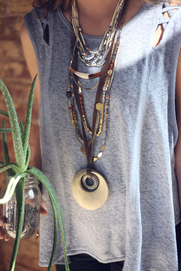 Eclectic necklaces