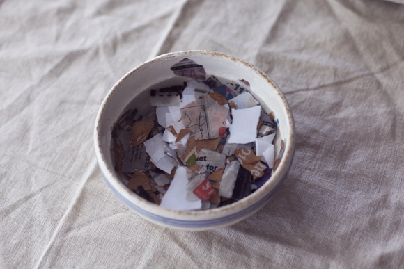 Homemade recycled paper