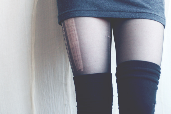 Run stockings, thigh highs