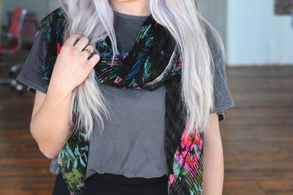 purple hair detail