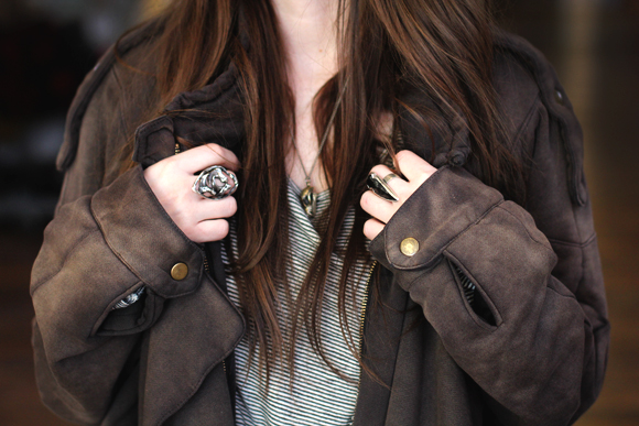 ring and jacket detail