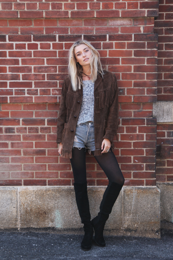 Free People Farah suede jacket