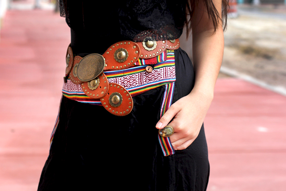 printed belt detail