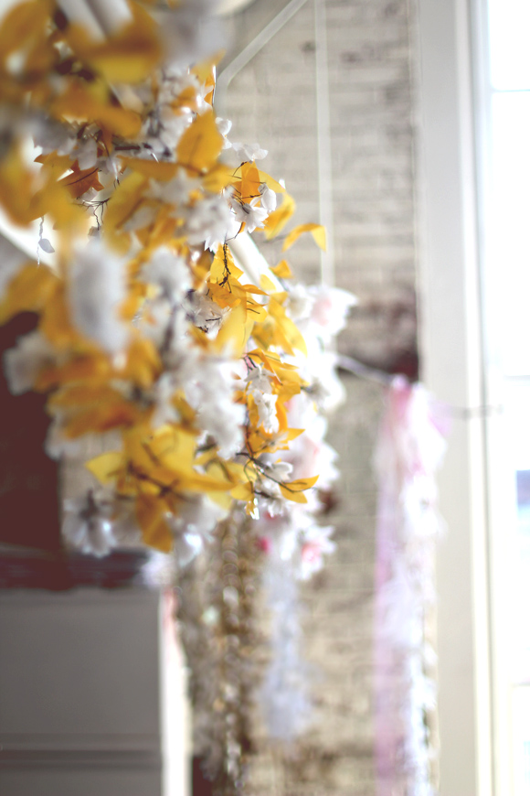 flowers hanging
