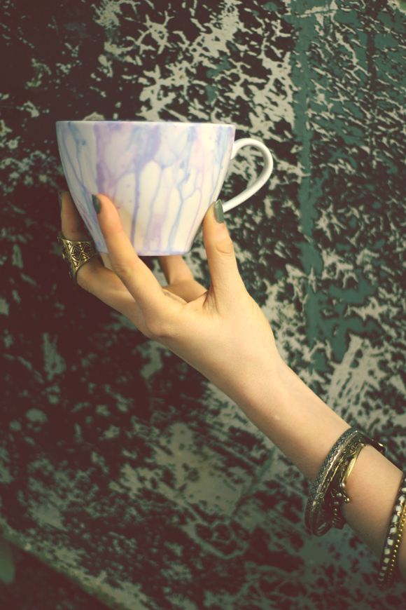 watercolor mug in hand