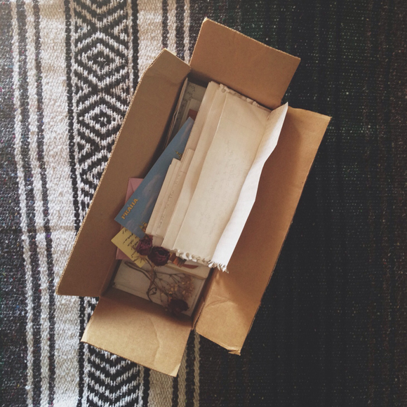 letters in a box