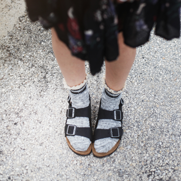 Birks and socks