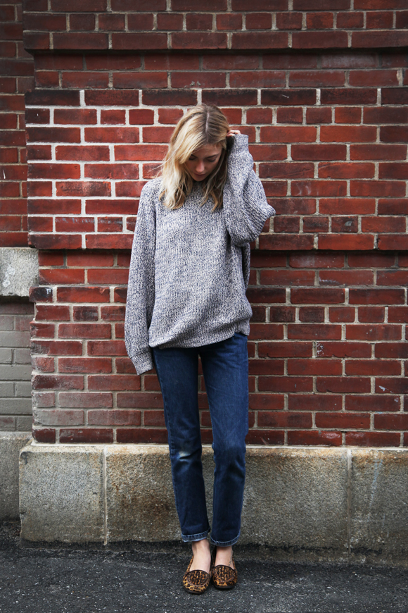 Free People Farah gray sweater