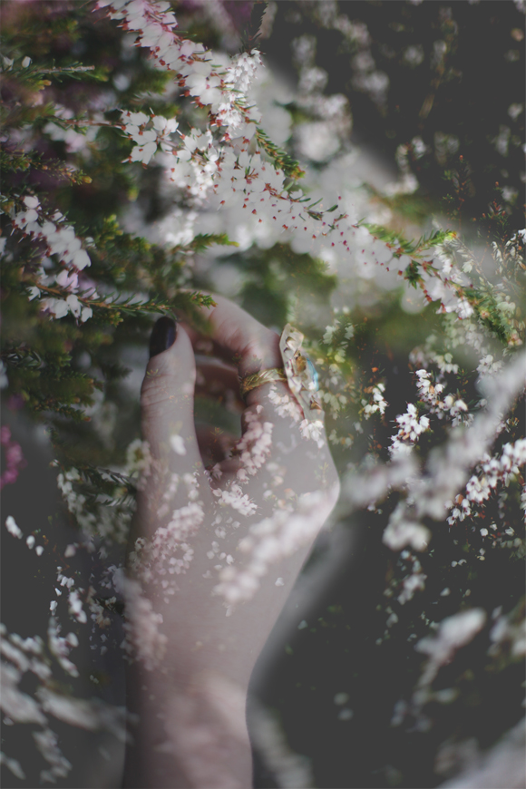 Hand in flowers