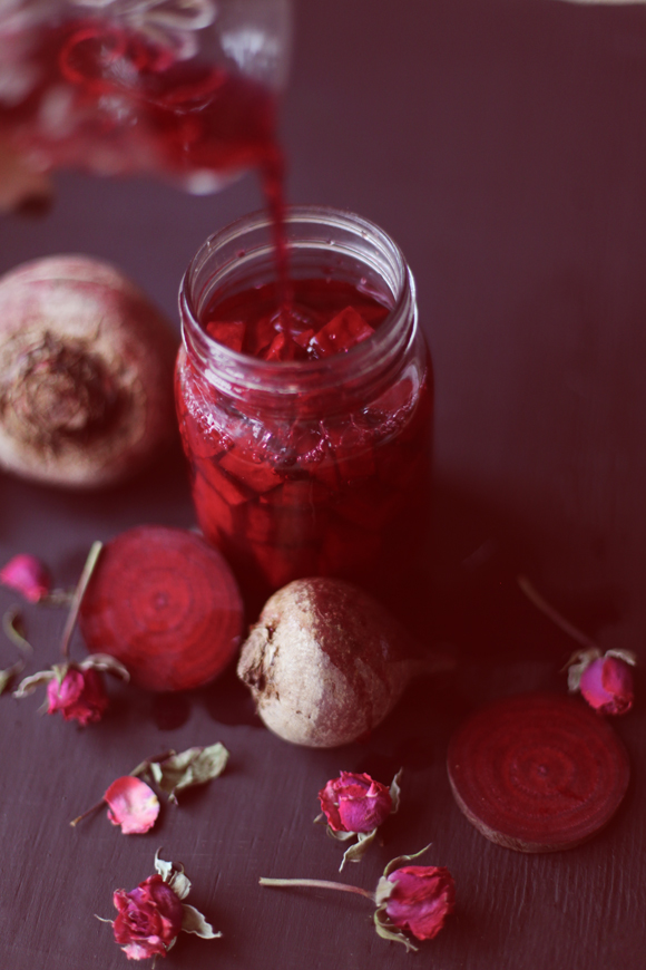 Homemade beet kvass
