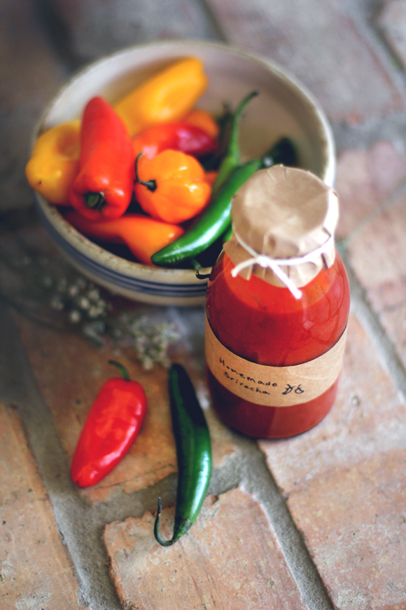 bottle or glass jar and voila, homemade vegan and gluten-free Sriracha ...