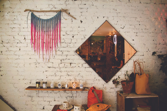 wall hanging and mirror