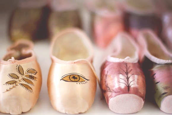 Post image for Inspired By: Hand Painted Ballet Slippers