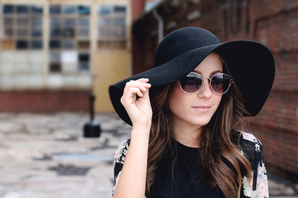hat and glasses
