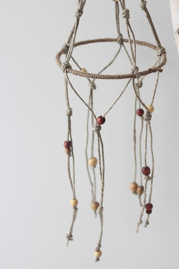 Beaded macrame hanging