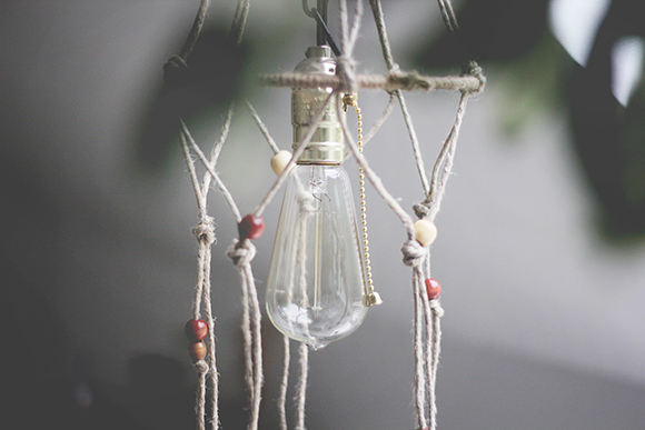 Hemp macrame light