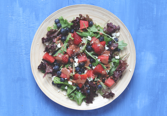 Post image for Red, White, & Blue Salad Recipe