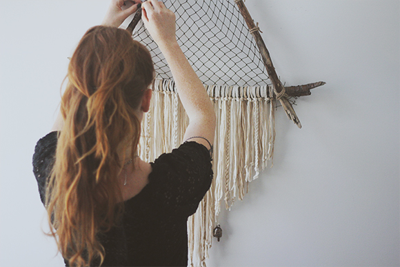 Where To Hang Your Dream Catcher DIY Giant Triangle Driftwood Crystal Dreamcatcher 22