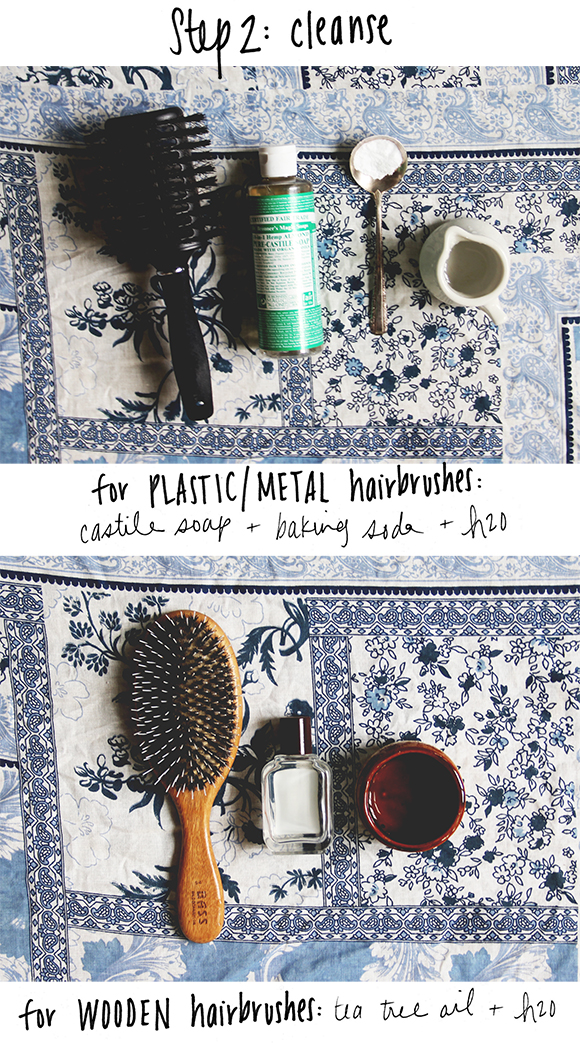 clean hairbrushes naturally