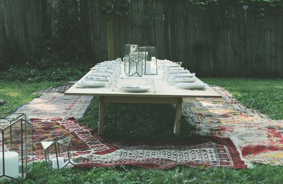 backyard dinner party decor