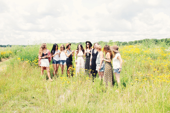 all of the girls in a field