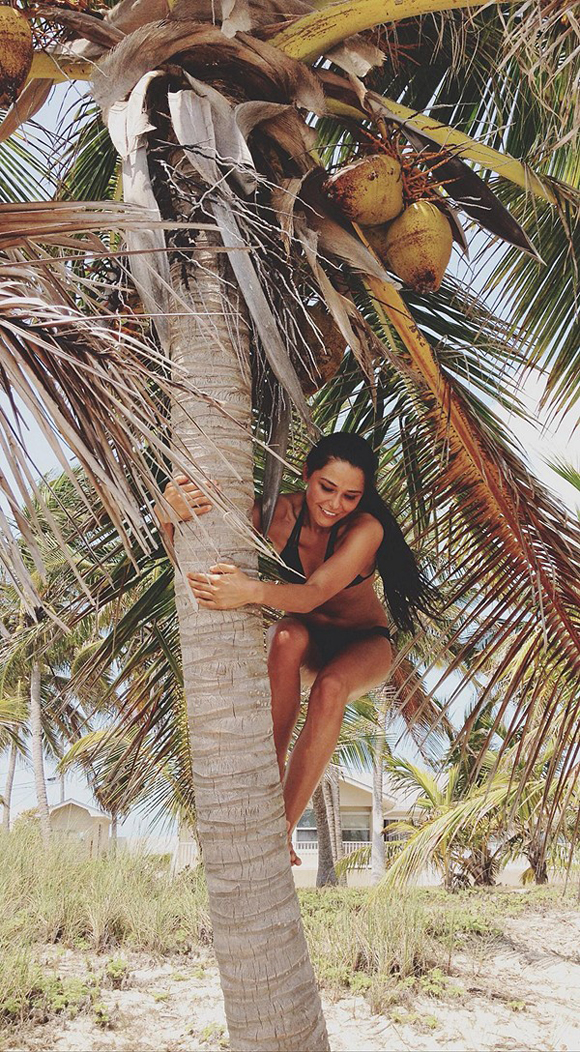 sharon in tree