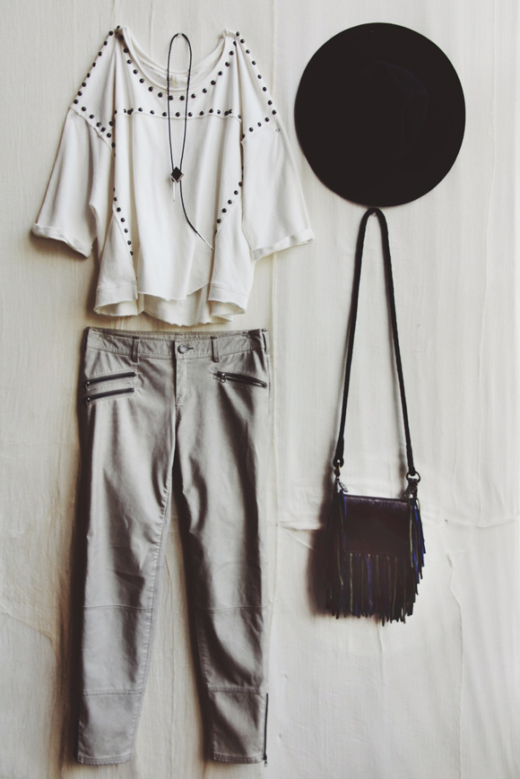 white oufit