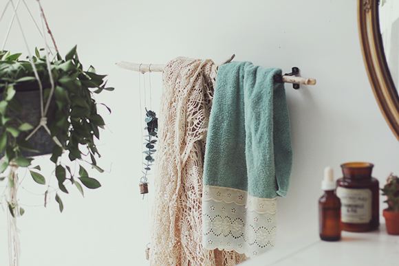 Two Alternative Towel Hanger Ideas