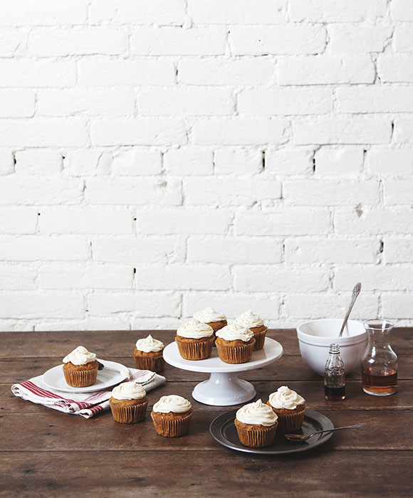 ... image for Pumpkin Spice Cupcakes with Maple Bourbon Cream Cheese Icing