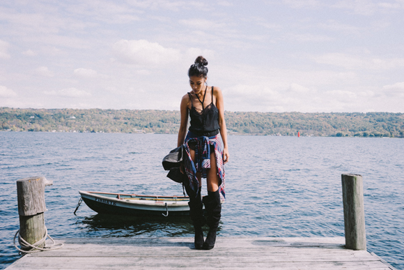 dock and plaid