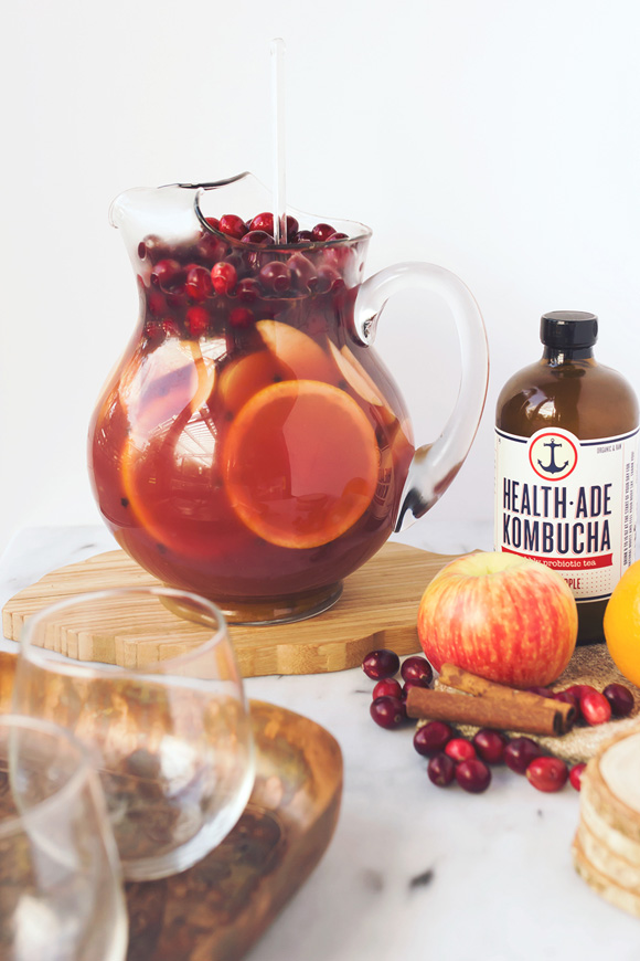 Post image for Spiced Apple Cranberry Kombucha Sangria