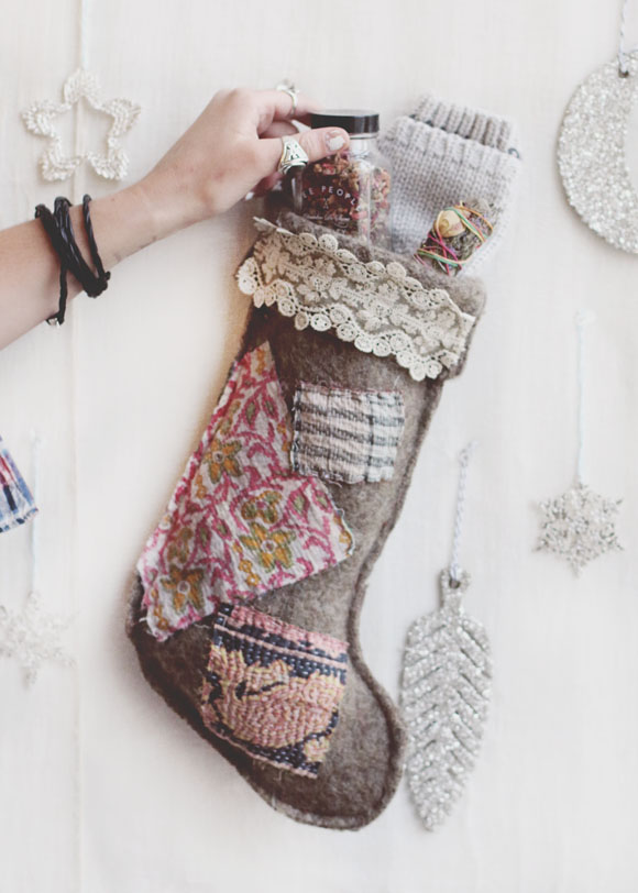 easy felted wool holiday stockings