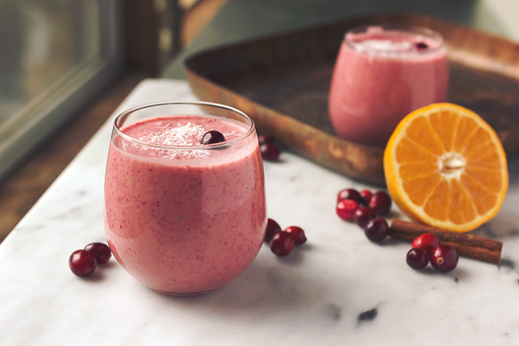 Post image for Vegan Orange Cranberry Coconut Smoothie