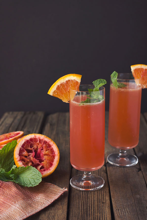 Post image for Blood Orange Bourbon Sparkler