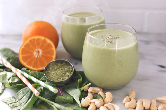 Post image for Orange Matcha Smoothie {Gluten-Free + Vegan}