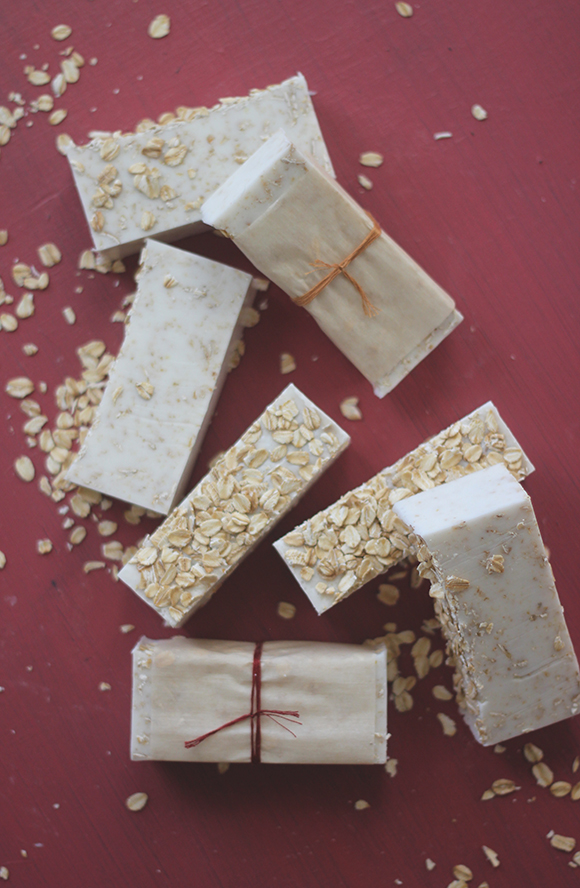 homemade oatmeal soap 14