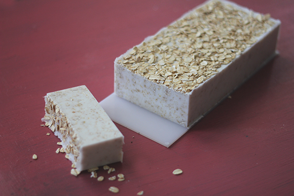 homemade oatmeal soap 8