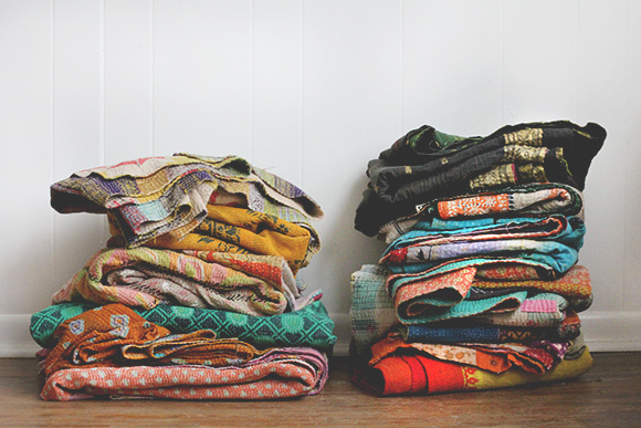 Post image for A Love for Vintage Kantha Quilts