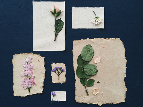 Pressed flower prints