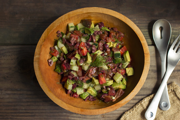 Post image for Tomato Cucumber Salad with Avocado & Olives