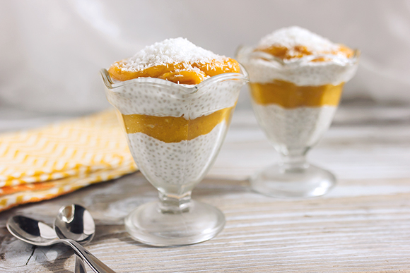 Post image for Coconut Mango Chia Seed Pudding