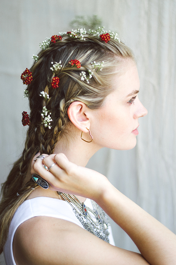 Braids + Flowers: The Perfect Hairstyle For The 4th of July